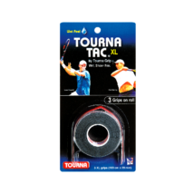 Tourna Tac XL fekete tenisz fedőgrip - 3 darab