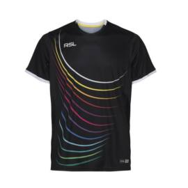 RSL Queens férfi tollaslabda, squash póló (fekete)
