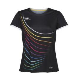 RSL Queens W női tollaslabda, squash póló (fekete)