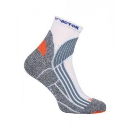 Victor Indoor Explosion Badminton Socks - 1 Pair (White-Grey)