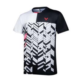 Victor T-10007 C férfi tollaslabda, squash póló (fehér-fekete)