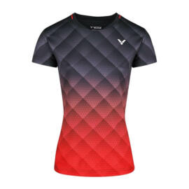 Victor T-14100 C női tollaslabda, squash póló (fekete-piros)