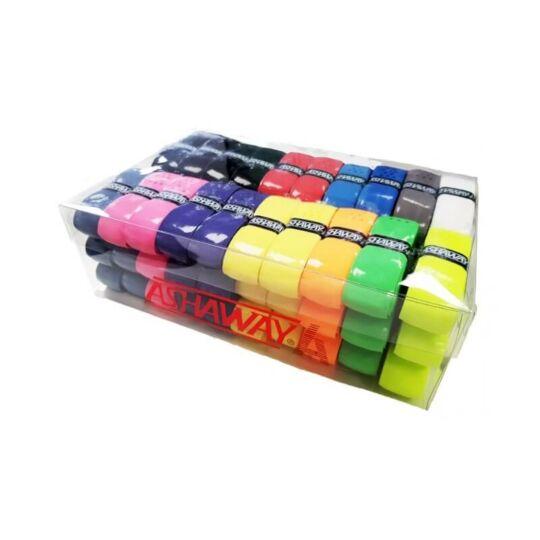 Ashaway Classic PU tollaslabda, squash alapgrip doboz - 60 darab (színes)
