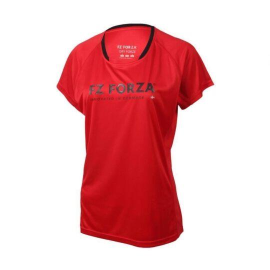 FZ Forza Blingley női tollaslabda, squash póló (piros)