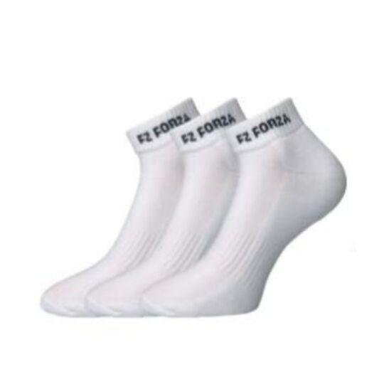 FZ Forza Comfort Sock Short tollaslabda, squash sportzokni - 3 pár (fehér)
