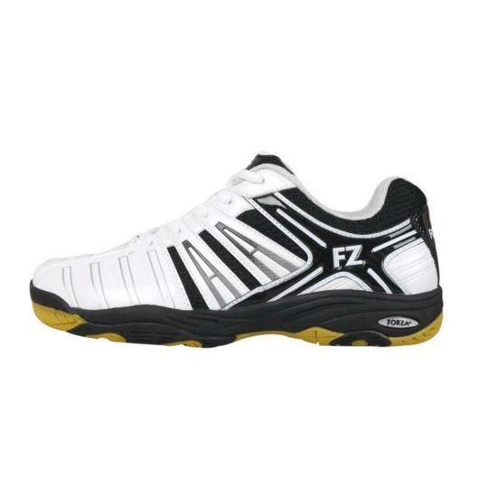FZ Forza Leander M gyerek tollaslabda cipő, squash cipő (fehér-fekete)
