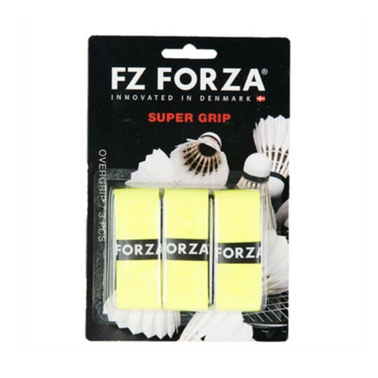FZ Forza Super tollaslabda, squash fedőgrip csomag - 3 darab (sárga)
