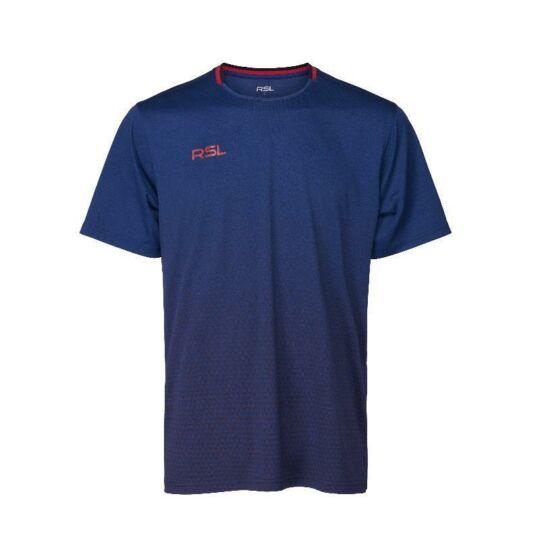 RSL Austin férfi tollaslabda, squash póló (sötétkék)