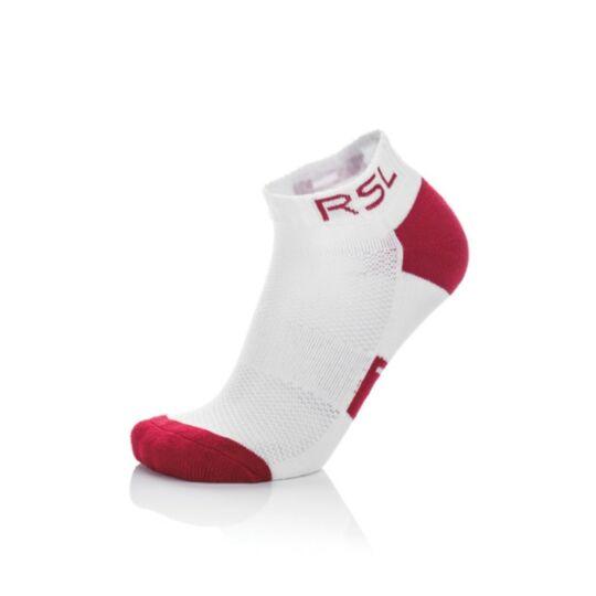 RSL W tollaslabda, squash sportzokni - 1 pár (fehér-piros)