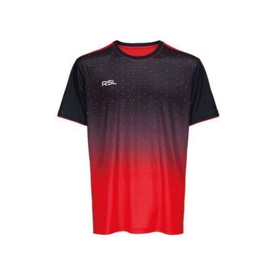 RSL Cassini férfi tollaslabda, squash póló (piros-fekete)
