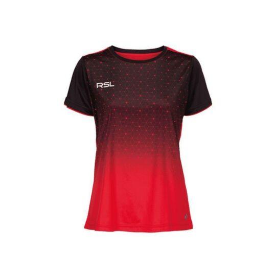 RSL Cassini W női tollaslabda, squash póló (piros-fekete)