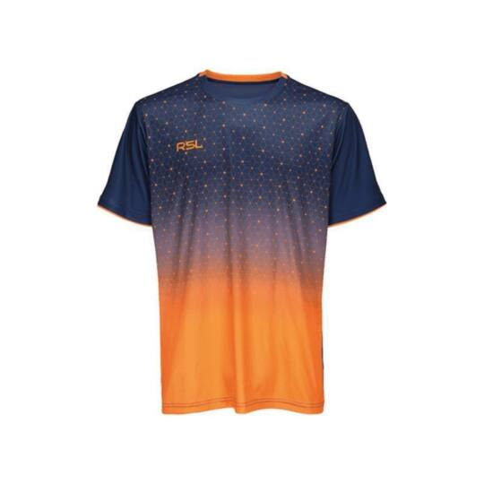RSL Cirium férfi tollaslabda, squash póló (sötétkék-narancssárga)