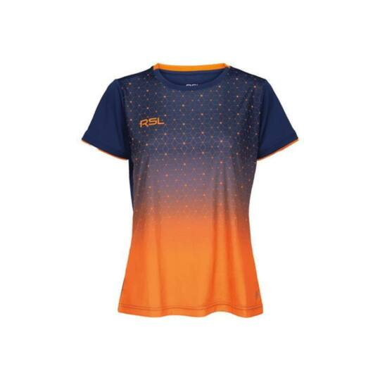 RSL Cirium W női tollaslabda, squash póló (sötétkék-narancssárga)