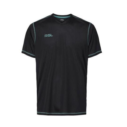 RSL Gaia férfi tollaslabda, squash póló (fekete)