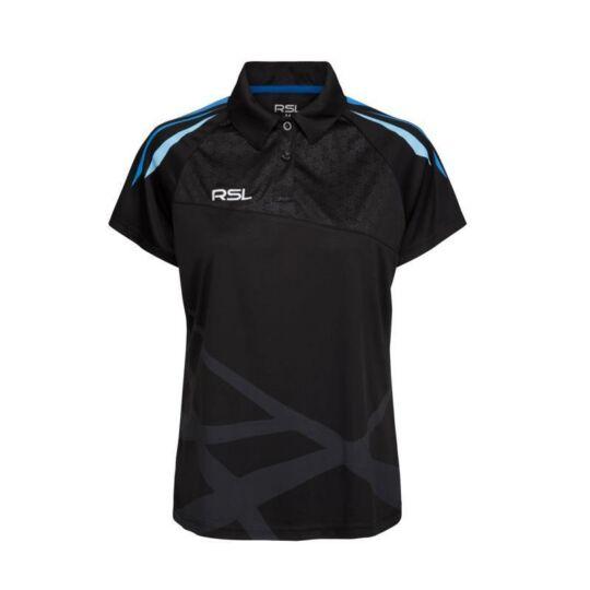 RSL Golf W női tollaslabda, squash galléros póló (fekete)