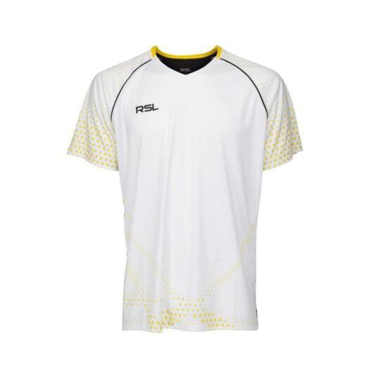 RSL India férfi tollaslabda, squash póló (fehér)