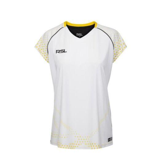 RSL India W női tollaslabda, squash póló (fehér)