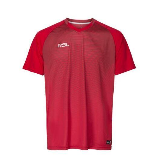RSL Manhatten férfi tollaslabda, squash póló (piros)