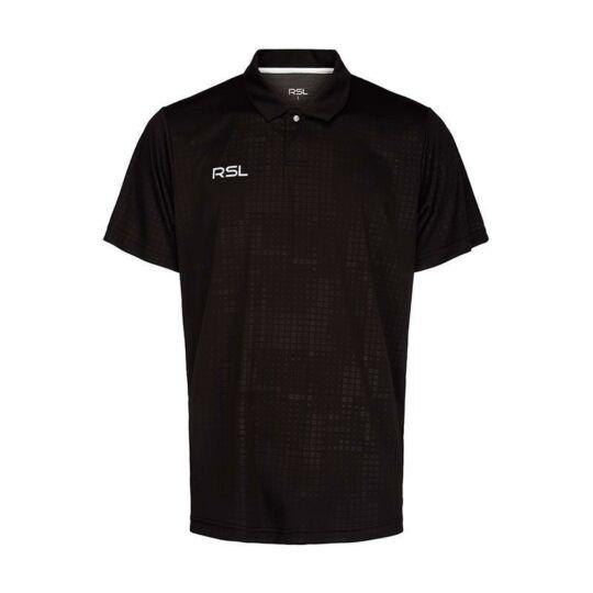 RSL Oxford férfi tollaslabda, squash galléros póló (fekete)