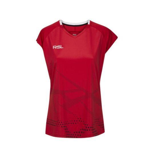 RSL Sierra W női tollaslabda, squash póló (piros)