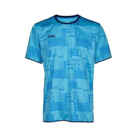 RSL Sues férfi tollaslabda, squash póló (világoskék)
