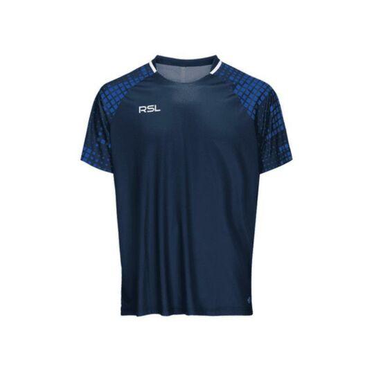 RSL Xenon férfi tollaslabda, squash póló (sötétkék)