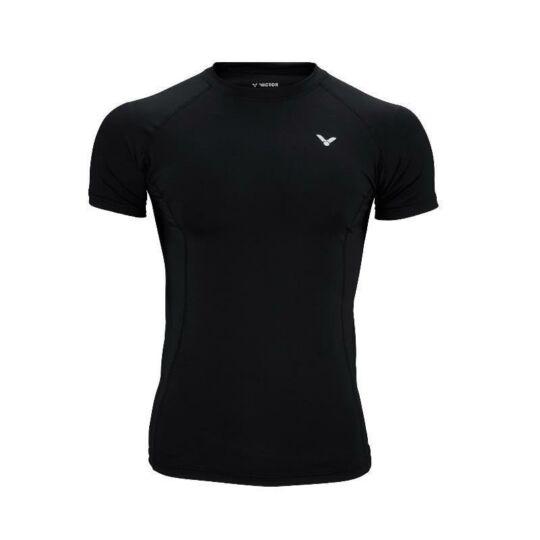 Victor 5708 kompressziós unisex tollaslabda, squash póló (fekete)
