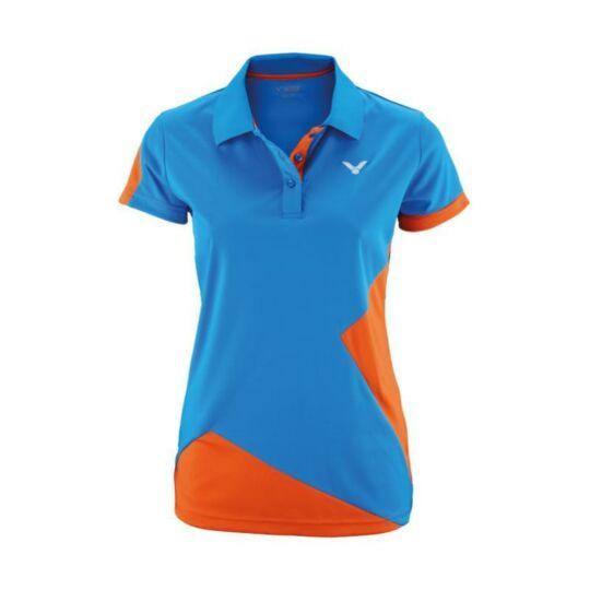 Victor Function 6118 női tollaslabda, squash galléros póló (narancssárga-kék)
