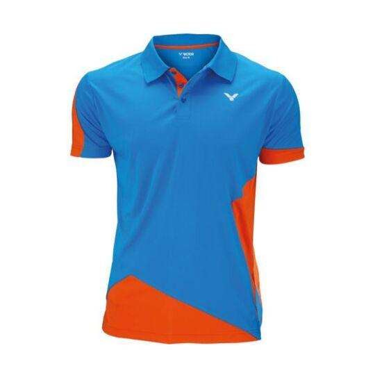 Victor Function 6128 gyerek tollaslabda, squash galléros póló (narancssárga-kék)