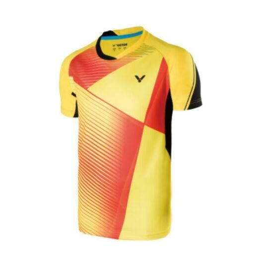 Victor Games 6347 férfi tollaslabda, squash póló (sárga)