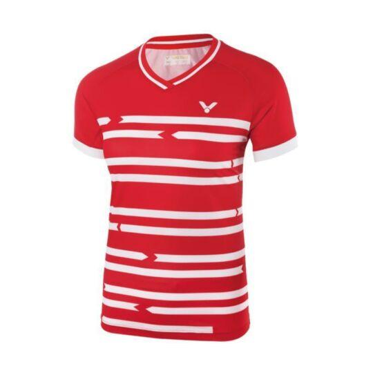 Victor 6618 női tollaslabda, squash póló (piros)