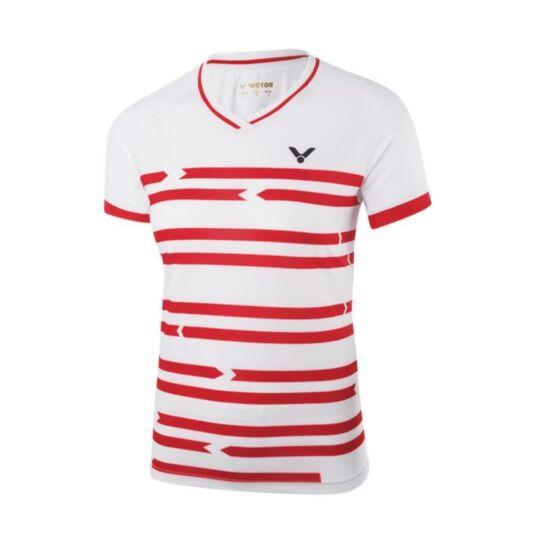 Victor 6618 női tollaslabda, squash póló (fehér)