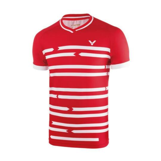 Victor 6628 férfi tollaslabda, squash póló (piros)