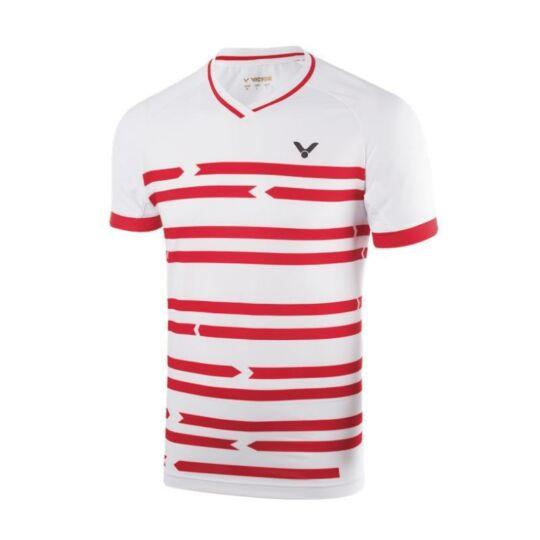 Victor 6628 férfi tollaslabda, squash póló (fehér)