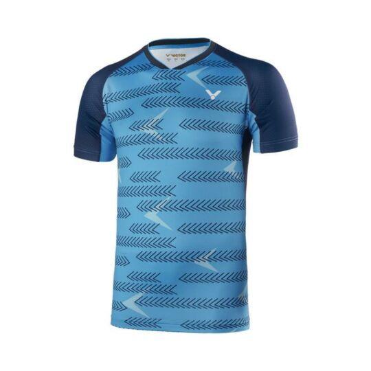 Victor International 6639 férfi tollaslabda, squash póló (kék)