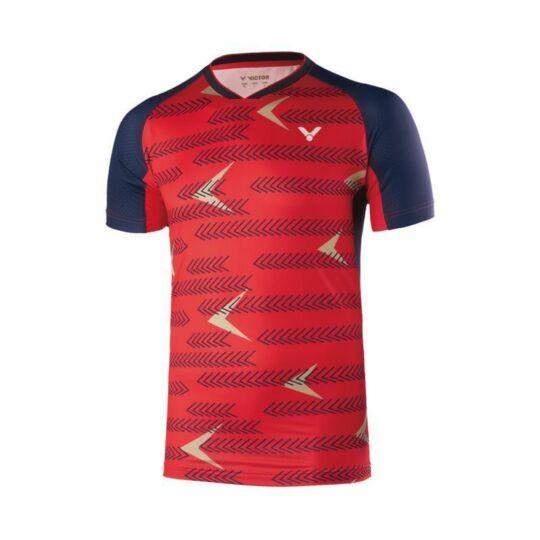 Victor International 6639 férfi tollaslabda, squash póló (piros)