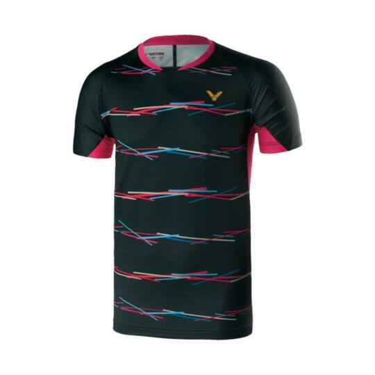 Victor Games 6659 férfi tollaslabda, squash póló (fekete)