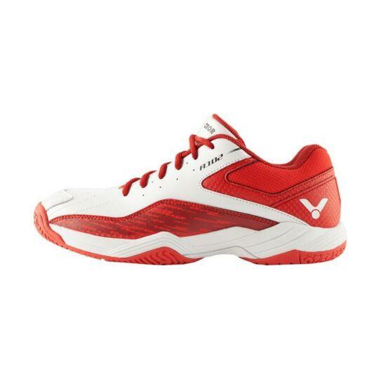 Victor A102 AD gyerek tollaslabda cipő, squash cipő (piros-fehér)