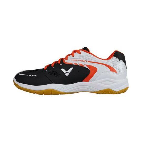 Victor A190 gyerek tollaslabda cipő, squash cipő (fekete-fehér)