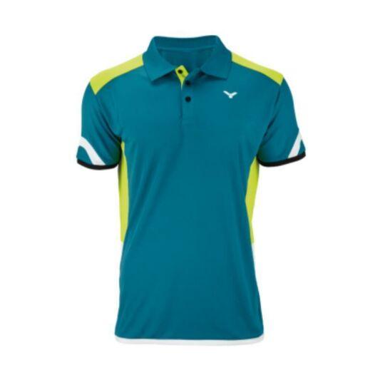 Victor Function 6697 férfi tollaslabda, squash póló (zöld)