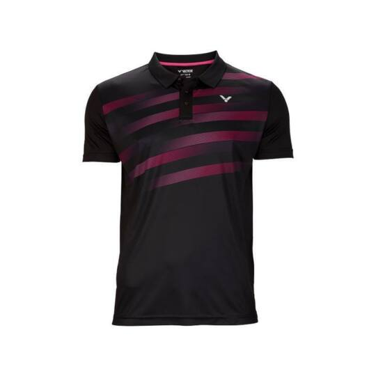 Victor S-03101 C férfi tollaslabda, squash galléros póló (fekete)