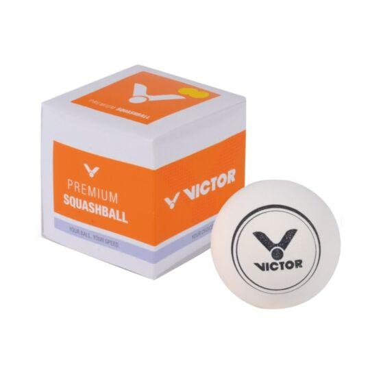 Victor PSA fehér squashlabda (két sárga pöttyös)