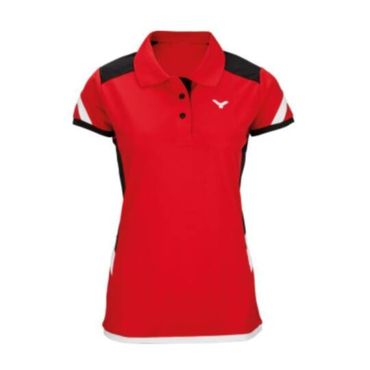 Victor Function 6717 női tollaslabda, squash galléros póló (piros)
