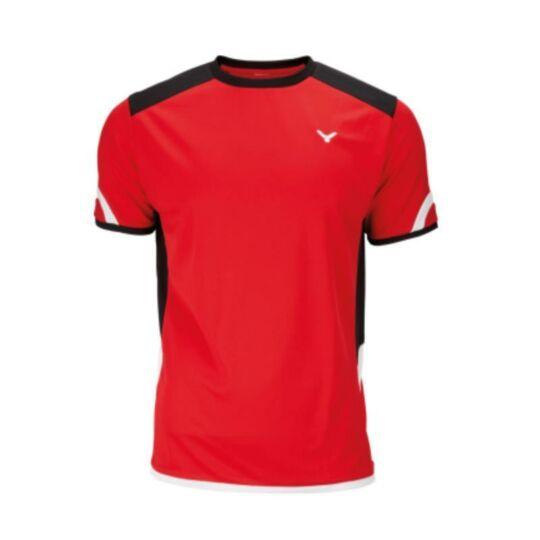 Victor Function 6737 férfi tollaslabda, squash póló (piros)