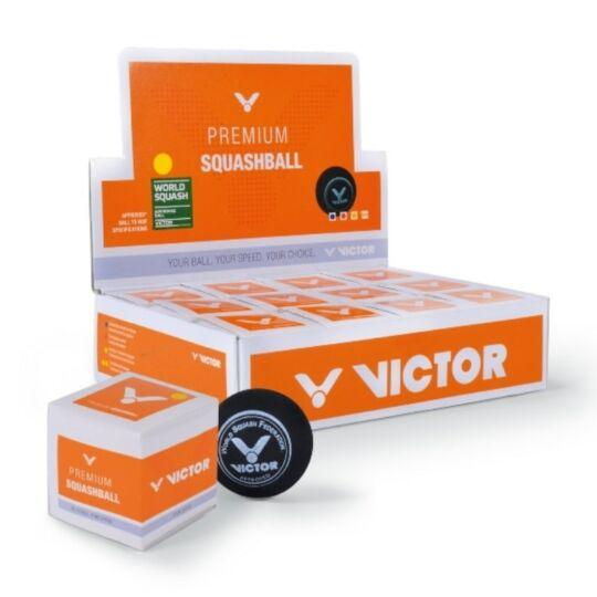 Victor squash labda doboz - 12 darab (sárga pöttyös)