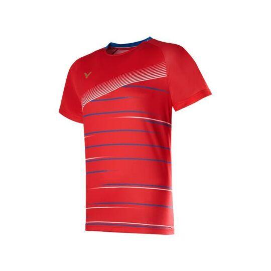 Victor T-00003 D férfi tollaslabda, squash póló (piros)