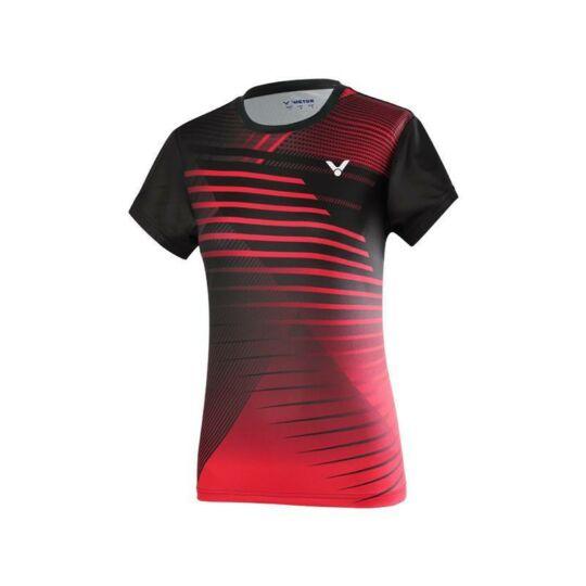 Victor T-01001TD C női tollaslabda, squash póló (vörös)