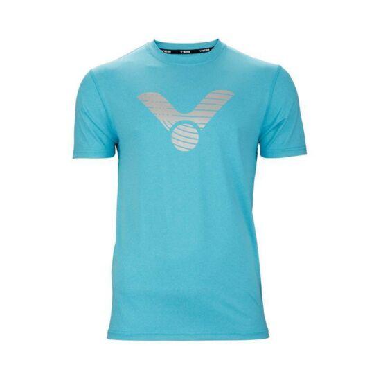 Victor T-03104 M férfi tollaslabda, squash póló (világoskék)