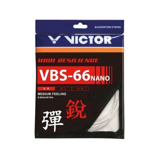 Victor VBS-66 Nano tollaslabda húr - 10 m (fehér)