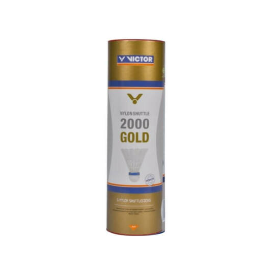 Victor 2000 műanyaglabda - 6 darab (sárga - médium sebesség)
